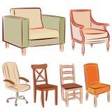 Het pictogramreeks van het meubilair Stock Fotografie
