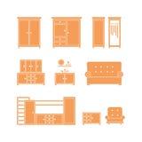 Het pictogramreeks van het meubilair Royalty-vrije Stock Foto's