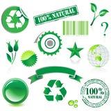 Het pictogramreeks van het milieu Stock Afbeeldingen