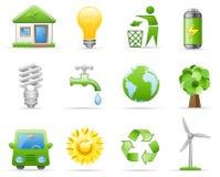 Het pictogramreeks van het milieu Stock Illustratie