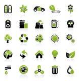 Het pictogramreeks van het milieu Stock Afbeelding