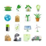 Het pictogramreeks van het milieu Stock Foto's