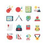 Het pictogramreeks van het onderwijs Stock Foto's