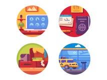 Het pictogramreeks van het reisconcept stock illustratie