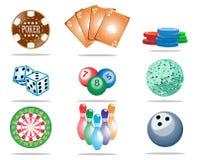 Het pictogramreeks van het spel Stock Foto's