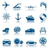 Het pictogramreeks van het vervoer Royalty-vrije Stock Fotografie