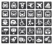 Het pictogramreeks van het vervoer Royalty-vrije Stock Foto's