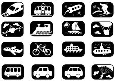 Het pictogramreeks van het vervoer Stock Afbeeldingen