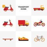 Het pictogramreeks van het vervoervoertuig Royalty-vrije Stock Foto
