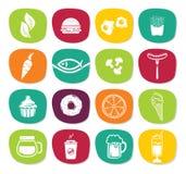 Het pictogramreeks van het voedsel Stock Foto's