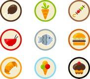 Het pictogramreeks van het voedsel Royalty-vrije Stock Foto