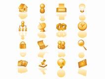 Het pictogramreeks van het Web Stock Foto's
