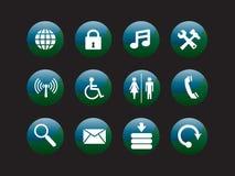 Het pictogramreeks van het Web Stock Fotografie