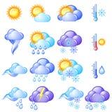 Het pictogramreeks van het weer Stock Fotografie