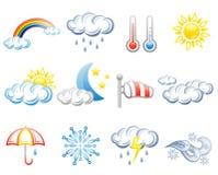 Het pictogramreeks van het weer Vector Illustratie
