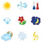 Het pictogramreeks van het weer Stock Foto's