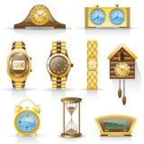 Het pictogramreeks van horloges. Royalty-vrije Illustratie