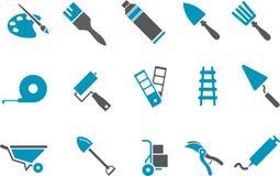 Het pictogramreeks van hulpmiddelen Royalty-vrije Stock Afbeeldingen