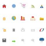 Het pictogramreeks van Internet Stock Afbeeldingen