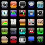 Het pictogramreeks van Iphone Stock Fotografie