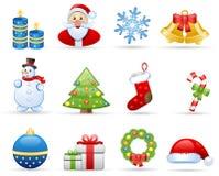 Het pictogramreeks van Kerstmis Vector Illustratie