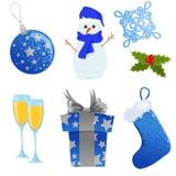 Het pictogramreeks van Kerstmis Royalty-vrije Stock Afbeeldingen