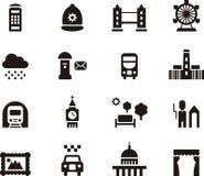 Het pictogramreeks van Londen, Engeland Royalty-vrije Stock Fotografie