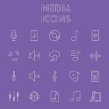 Het pictogramReeks van media Stock Fotografie