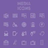 Het pictogramReeks van media Stock Foto