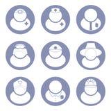 Het pictogramreeks van mensenberoepen Stock Afbeeldingen