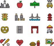 Het pictogramreeks van New York Royalty-vrije Stock Foto