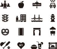Het pictogramreeks van New York vector illustratie