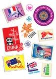 Het pictogramreeks van het reisoriëntatiepunt royalty-vrije illustratie