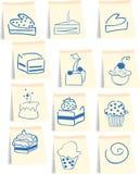 Het pictogramreeks van snoepjes Royalty-vrije Stock Foto's