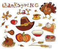 Het pictogramreeks van thanksgiving day Royalty-vrije Stock Foto's