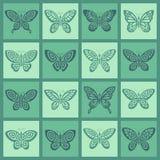 Het pictogramreeks van vlinders Royalty-vrije Stock Afbeelding
