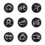 Het pictogramreeks van voertuigen Stock Afbeeldingen