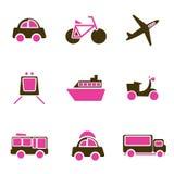 Het pictogramreeks van voertuigen Stock Fotografie