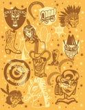 Het pictogramreeks van Wilde Westennen Stock Fotografie