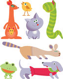 Het pictogramreeks van zeven Speelgoed Royalty-vrije Stock Afbeelding