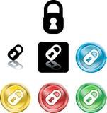 Het pictogramsymbool van het hangslot Stock Foto