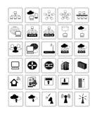 Het pictogramsymbool van het netwerkweb Stock Afbeeldingen