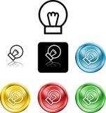 Het pictogramsymbool van Lightbulb Royalty-vrije Stock Afbeeldingen