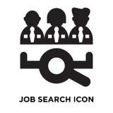 Het pictogramvector van het baanonderzoek op witte achtergrond, embleem wordt geïsoleerd dat concep royalty-vrije illustratie