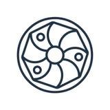 Het pictogramvector van de koningscake op witte achtergrond, het teken dat van de Koningscake wordt geïsoleerd royalty-vrije illustratie