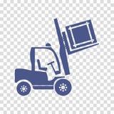 Het pictogramvector van de wielvorkheftruck Stock Foto