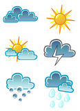 Het pictogramvector van het weer Royalty-vrije Stock Foto's
