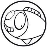 Het pictogramvissen b&w van huisdieren Royalty-vrije Stock Foto