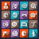 Het pictogramwit van de banddienst Royalty-vrije Stock Afbeeldingen