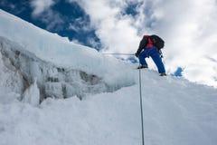 Het piek beklimmen van het Lobucheoosten, Everest-gebied, Nepal stock foto's